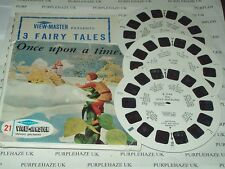 VIEWMASTER 3 REEL B 314 ONCE UPON A TIME ~ SAWYERS 3D PICTURES STEREOSCOPE GAF