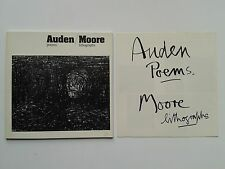 """ AUDEN poems / MOORE lithographs"", Britsh Museum 1974 giacometti braque nash"