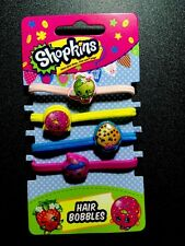 Pack Of 4  SHOPKINS Hair Bobbles / Bands Birthday Bag Filer # Series 5 Doll 4 2