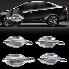 New Chrome Door Handle Cover + cup Bowl fit for Mazda 2 3 6 2010 2011 2012 13-14