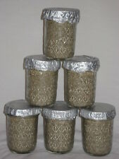 6 (Six) Ultimate Half Pint Mushroom Substrate Jars,  Grow Mushrooms Fast!!