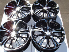 17 5x114.3 5x100 Black Wheels Fits Eclipse Mazda 3 6 Cavalier Prelude 5 Lug Rims