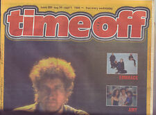 Time Off Brisbane free music paper from 1998 with Bob Dylan cover