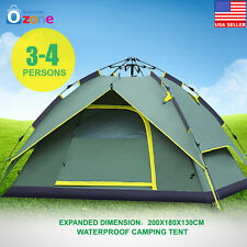 3-4 Person Waterproof Automatic Outdoor Double layer Instant Camping Family Tent