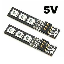 2x RGB 5050 LED Lights Board 7 Color 5V w/DIP Switch for QAV250 F450 Quadcopter