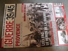 µ? Revue Guerre 39/45 n°2 Debarquement Provence Massacre Maillé Liberation Paris