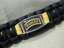 Custom U.S. Army Ranger LEAD THE WAY 500lb Paracord Key Fob w/ 220lb Carabiner