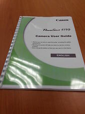 CANON POWERSHOT S110  FULL USER MANUAL GUIDE INSTRUCTIONS  PRINTED 343 PAGES A5