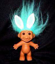 "6"" Russ Troll Doll with Bunny Rabbit Ears and Blue Hair"
