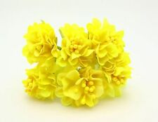 Yellow Flower Bouquet Carnations Silk Artificial Flowers Room Wedding Decor
