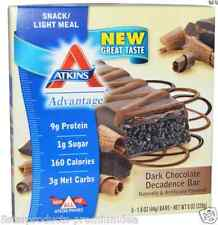 NEW ATKINS ADVANTAGE DARK CHOCOLATE DECADENCE BAR HEALTHY SNACK GROCERIE FOOD
