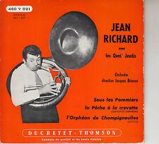 45TRS VINYL 7''/ FRENCH EP JEAN RICHARD / QUAT' JEUDIS / SOUS LES POMMIERS