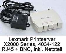 DRUCKSERVER PRINTSERVER LEXMARK 4034-122 X2012e MIT RJ-45 RJ45 + BNC GEWÄHRLEIST