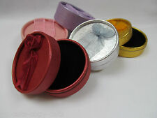 5 or 10 LARGE ROUND LUXURY JEWELLERY EARRING RING GIFT BOXES INSERT 5 COLOURS UK