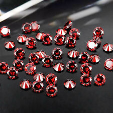 1mm Garnet Cubic Zirconia Round Cut Loose Gemstone AAA lot of 1000 PCS stones