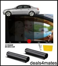 WINDOW TINT FILM TINTING BLACK KIT  SMOKE 35% 50cm x 6M