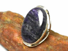 Siberian CHAROITE   Sterling  Silver  925  Gemstone  RING  -  O - Gift  boxed