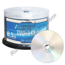 50 Optical Quantum 8x 8.5GB DVD+R DL Double Layer Shiny Silver Blank Media Discs
