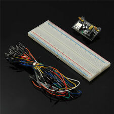 MB102 Power Supply Module 3.3V 5V+Breadboard Board 830 Point+65 Jumper cable LM