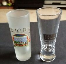 GLEN CAIRN Millenium Shot / Sherry Glass & Niagara Falls Opaque Shot Glass