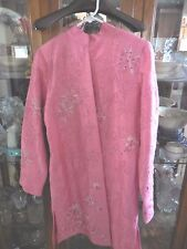Tunique Nights FAB Asian inspired Tunic  Rose Pink Beaded S