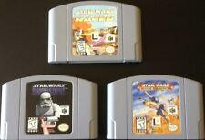 STAR WARS EPISODE I RACER ROGUE SQUADRON SHADOWS OF THE EMPIRE N64 3 GAME LOT 64