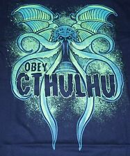"""Obey The Cthulhu"" H.P. Lovecraft Mythos Men's Small Shirt Teefury"