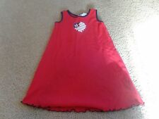 Sophie Rose Red W HEART WITH FLAG DESIGN  Patriotic Dress 4th of July - Size 6