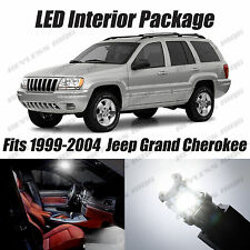 16 pcs LED White Lights Interior Package Kit For Jeep Grand Cherokee 1999-2004