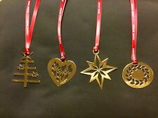GEORG JENSEN SET OF 4 GOLD CHRISTMAS DECORATIONS