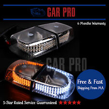 Warning White and Amber 240 LED Light Bar Roof Top Emergency Hazard Flash Strobe