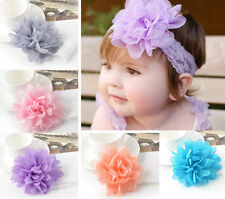 5pcs Set Kids Baby Girl Toddler Infant Flower Headband Hair Bow Band Accessories