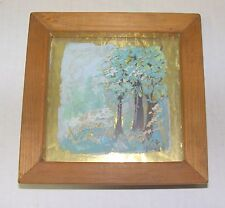Landscape Painting - Trees on a Mountainside - 3-D Foil Painting on glass