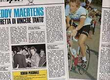 SP82 Clipping-Ritaglio 1977 Intervista Freddy Maertens ho fretta di vincere