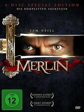 MERLIN - DIE KOMPLETTE TV-SERIE Rutger Hauer SAM NEILL 4 DVD Box Collection Neu