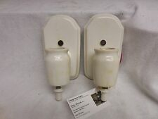 VINTAGE Antique Pair of Porcelain Art Deco EFCOLITE wall sconces toggle switch