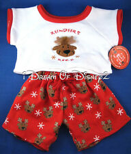 BUILD-A-BEAR PAJAMAS 'REINDEERS ROCK' SET TEDDY CHRISTMAS CLOTHES OUTFIT NEW