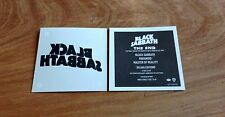 BLACK SABBATH temporary Tattoo THE END PARANOID MASTER OF REALITY DELUXE EDITION