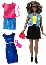 Barbie Fashionista Curvy African-American Doll with 2 Additional Outfits
