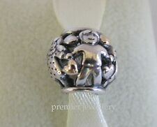 Authentic Genuine Pandora Sterling Silver 14k gold Family Forever Charm 791040
