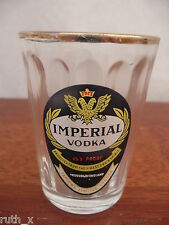 RARE Ribbed IMPERIAL VODKA Shot Glass Taplows Ltd London England VINTAGE Spirits