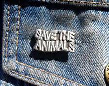 Save The Animals Pewter Pin badge