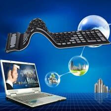 Waterproof USB Portable Soft Flexible Silicone Wireless PC Keyboard 107 Keys  FT
