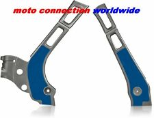 NEW YAMAHA YZ125 YZ250 2014 SILVER / BLUE ACERBIS X-GRIP FRAME GUARDS PROTECTORS