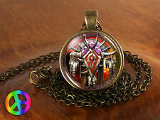 World of Warcraft WoW Horde Game Gamer Gaming Necklace Pendant Jewelry Gift Mens