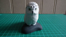 Small Snowy Owl Porcelain Ornament - Excellent Condition
