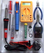 ELECTRONIC SOLDERING IRON DMM TOOL KIT PCB's MULTIMETER experimenters beginners