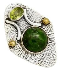 Chrome Diopside, Peridot Pendant Solid 925 Sterling Silver Brass Jewelry IP27902