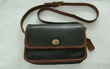 COACH VINTAGE  COMPARTMENT BAG SPECTATOR DARK BROWN AND BRITISH TAN LEATHER