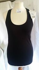 MNG BASICS WOMAN'S LADIES BLACK VEST TOP SIZE L BNWT